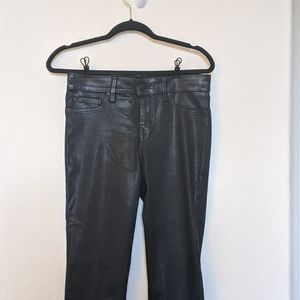 Level 99 Black Coated Skinny Jeans